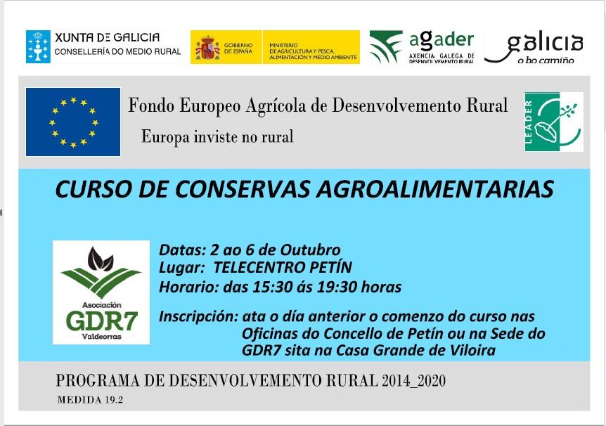 Curso de conservas agroalimentarias