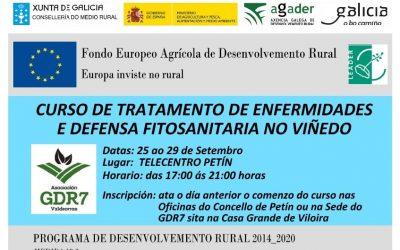 Curso de tratamento de enfermidades e defensa fitosanitaria no viñedo