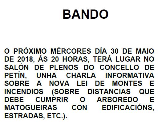 BANDO CHARLA INFORMATIVA NOVA LEI DE MONTES E INCENDIOS