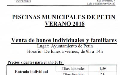 VENTA DE BONOS PISCINAS MUNICIPALES