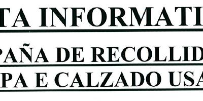 CAMPAÑA DE RECOLLIDA DE ROUPA E CALZADO USADO