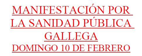 MANIFESTACIÓN EN SANTIAGO DE COMPOSTELA POR LA SANIDAD PÚBLICA