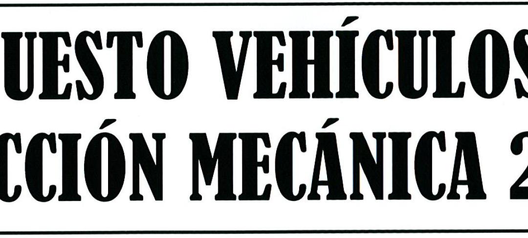 AVISO: COBRO IMPOSTO DE VEHÍCULOS DE TRACCIÓN MECÁNICA 2019